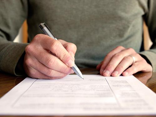 filling form